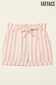 FatFace Paperbag Waist Stripe Shorts