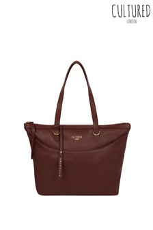 Cultured London Heston Leather Tote Bag