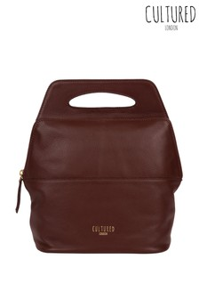 Cultured London Finsbury Leather Backpack