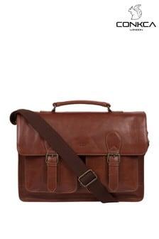 Conkca Pinter Leather Work Bag