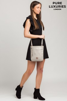 Pure Luxuries London Kahlo Leather Cross Body Bag