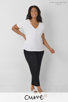 Live Unlimited Curve Black Tapered Leg Trousers
