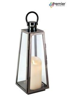 Premier Decorations Ltd Nickel Lantern Small Square Base Lantern