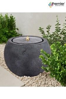 Premier Decorations Ltd Round LED Water Feature