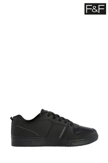 F&F Black PU Sporty Lace-Up Shoes