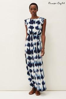 Phase Eight Blue Olivia Tie Dye Maxi Dress