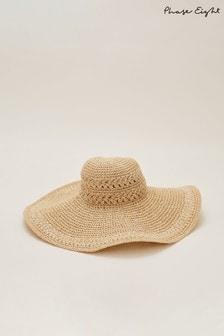Phase Eight Neutral Sharla Crochet Straw Hat