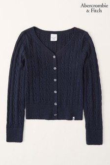 Abercrombie & Fitch Cable Knit Button Front Cardigan