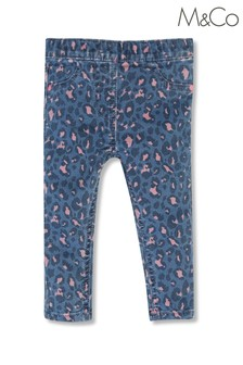 M&Co Younger Girls Animal Print Jeggings