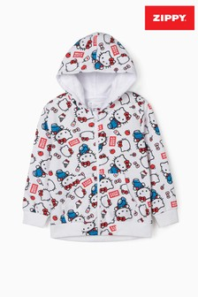 Zippy Girls White Hello Kitty Hooded Jacket
