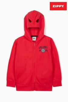 Zippy Boys Red Marvel Avengers Captain American Jacket With Mask-Hood