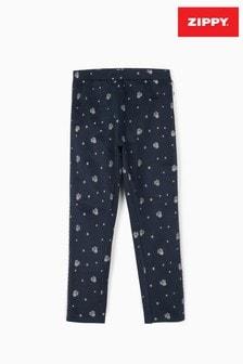 Zippy Girls Dark Blue/Silver Disney Minnie Mouse Leggings