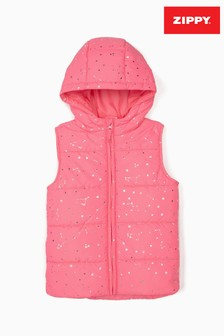 Zippy Girls Pink Stars Padded Bodywarmer