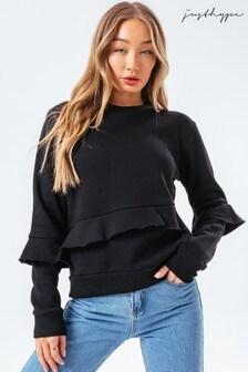 Hype. Ruffle Crew Sweater