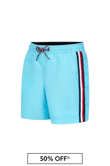 Tommy Hilfiger Boys Aquamarine Swim Shorts
