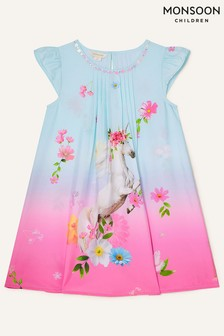 Monsoon Blue Unicorn Ombre Dress