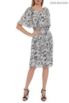Gina Bacconi Mahra Floral Chiffon Dress