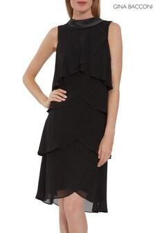 Gina Bacconi Halona Tiered Chiffon Dress