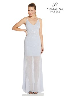 Adrianna Papell Nearly Nude Beaded Gown