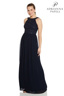 Hailey Logan by Adrianna Papell Beaded Gown With Soft Skirt