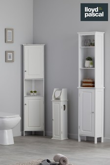 Chatsworth Toilet Roll Holder and Store in White By Lloyd Pascal
