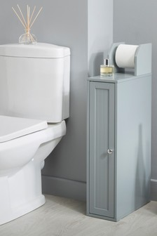Toilet Roll Holder and Store in Grey By Lloyd Pascal
