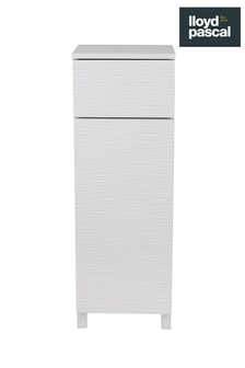 Mary Jane Ripple Floor White Cabinet By Lloyd Pascal