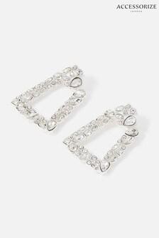 Accessorize White New Decadence Crystal Doorknocker Earrings