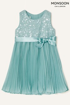 Monsoon Green Baby Keita Sequin Dress