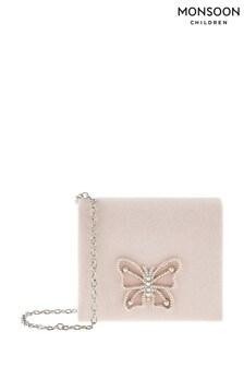 Monsoon Pink Diamanté Butterfly Bag