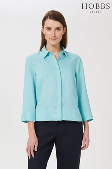Hobbs Blue Nita Boxy Shirt