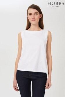Hobbs White Maddy Cotton Vest