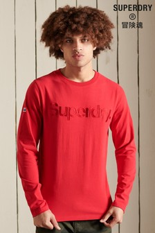 Superdry Red Core Logo Source Long Sleeved Top