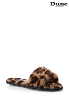 Dune London Leopard Snuggled Slider Slippers