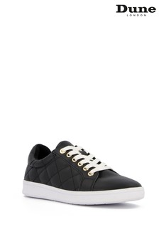Dune London Black Excited Quilted Trainers