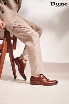 Dune London Brown Sparrows Smart Gibson Shoes