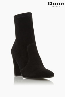 Dune London Black Optical Stretch Sock Ankle Boots