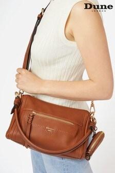 Dune London Brown Dallas Small Zip Top Cross-Body Bag