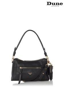Dune London Black Dallas Small Zip Top Cross-Body Bag
