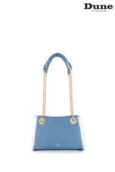 Dune London Blue Bevette Chain Handle Shoulder Bag