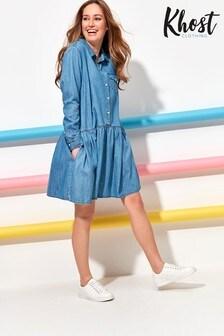 Khost Denim Button Dress