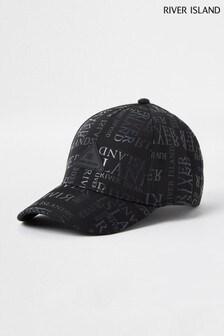 RI Black Monogram Cap