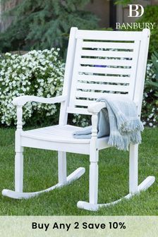 Acacia Solid Wood Rocking Chair By Banbury Design