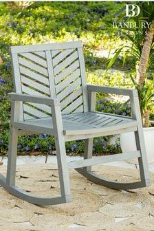 Acacia Wood Vincent Rocking Chair By Banbury Design