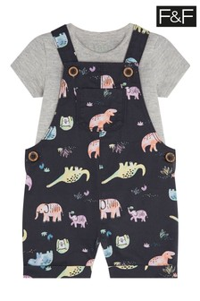 F&F Woven Dungarees Set