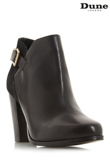 Dune London Black Oleria Mixed Upper Ankle Boots