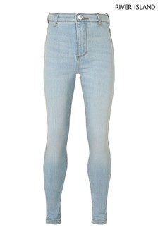 River Island Blue Bleached Jersey Kaia Jeans
