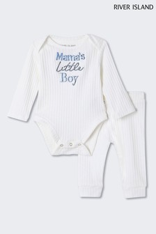 River Island White Mama's Little Boy Set