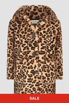 Zadig & Voltaire Girls Leopard Print Coat