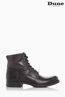 Dune London Grey Cardif Lace-Up Boots